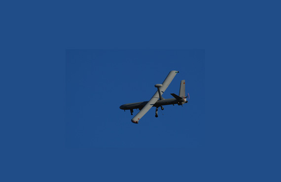 A Hermes 450 drone - manufactured by Elbit