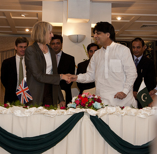 "British Home Secretary Theresa May met her Pakistani counter-part last Tuesday and praised him for ""adopting a zero tolerance approach to illegal migration"". Photo: BHC Islamabad"
