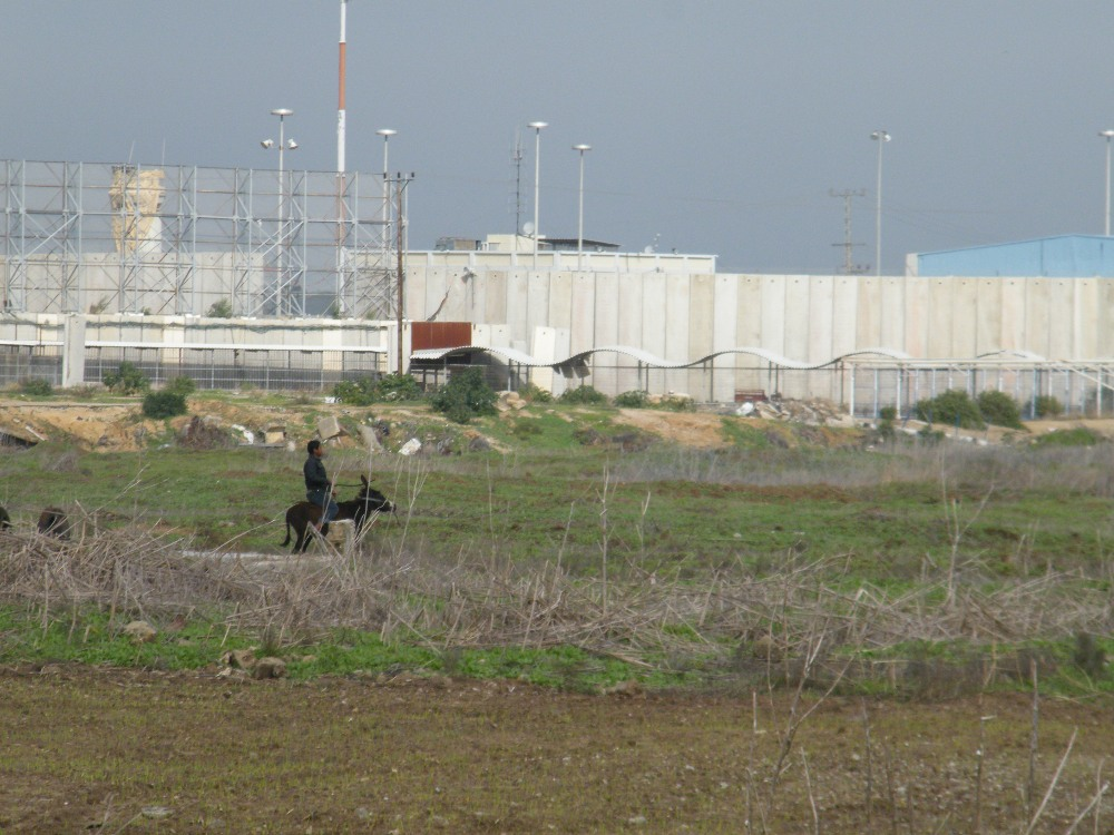 The Beit Hanoun (Erez) checkpoint, photo taken from the Palestinian side by the Beit Hanoun Local Initiative, 2013