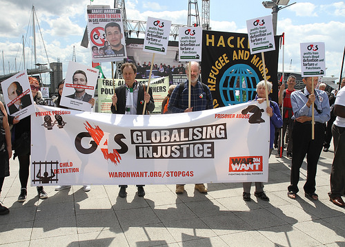 Protest at G4S Agm 2014