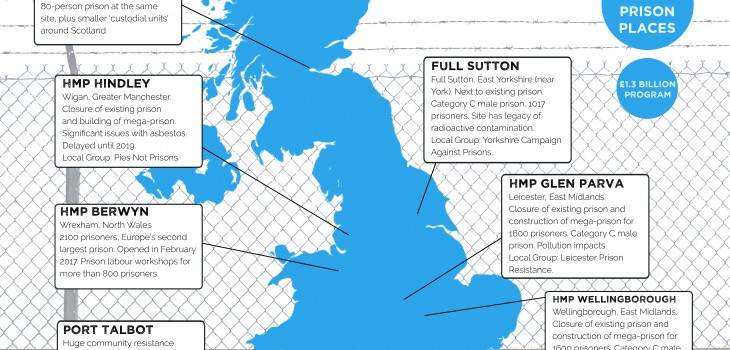Map Of Uk 2100.New Prison Expansion Infographic Corporate Watch