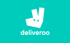 Image shows the deliveroo logo